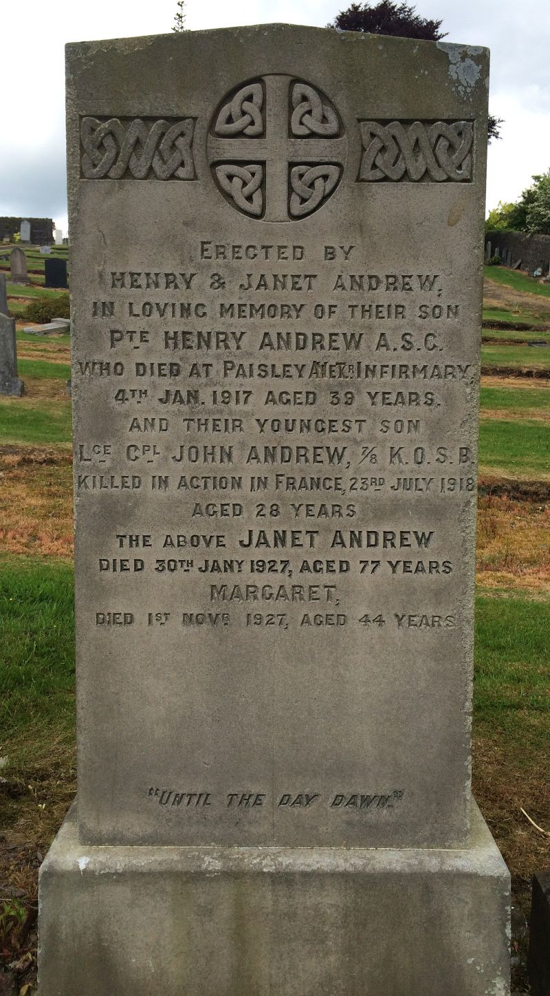 Andrew brothers Kilbarchan memorial