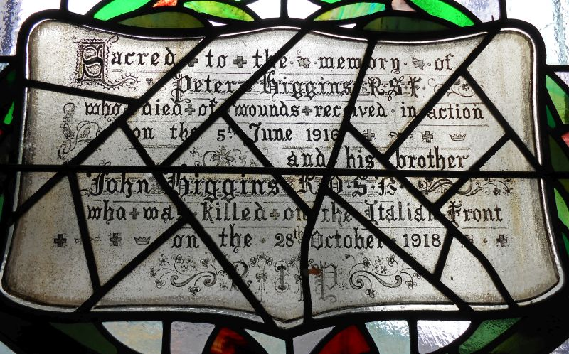 Higgins memorial window